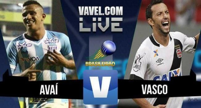 Resultado Avaí x Vasco da Gama na Série B do Campeonato Brasileiro 2016 (2-1)