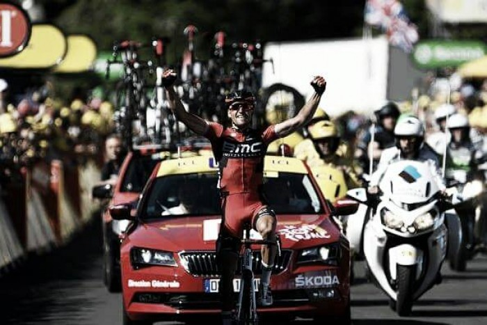 Tour de France: Van Avermaet claims yellow jersey with stage five victory into Le Lioran