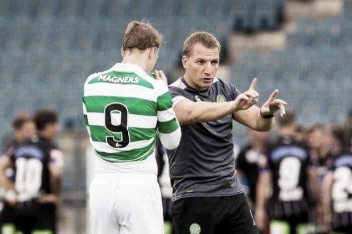 """Atacante Griffiths destaca importância de Brendan Rodgers ao Celtic: """"Só depende de nós"""""""