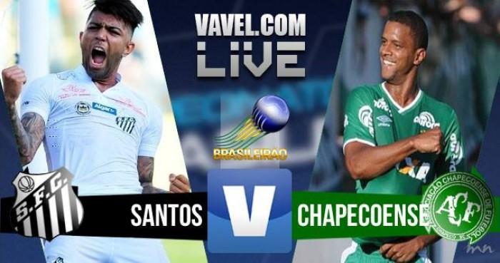 Resultado Chapecoense e Santos no Campeonato Brasileiro 2016 (0-1)
