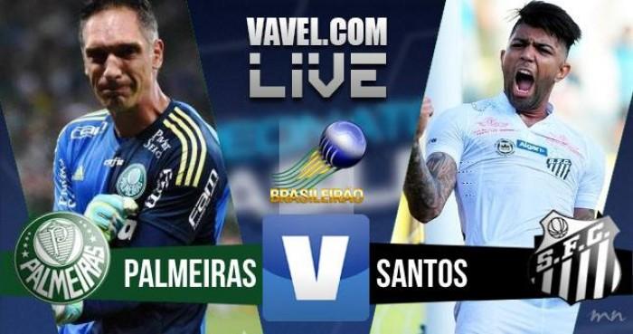 Resultado Palmeiras x Santos em tempo real (1-1)