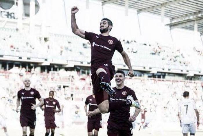 Com dois gols do brasileiro Igor Rossi, Hearts bate Infonet e avança na Europa League