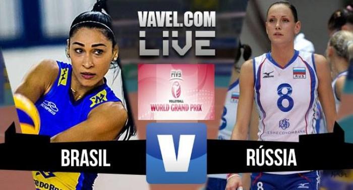 Resultado Brasil x Rússia pelo Grand Prix de Vôlei 2016 (3-0)