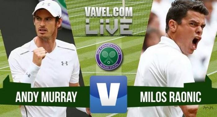 Andy Murray vence Milos Raonic na final de Wimbledon 2016 (3-0)