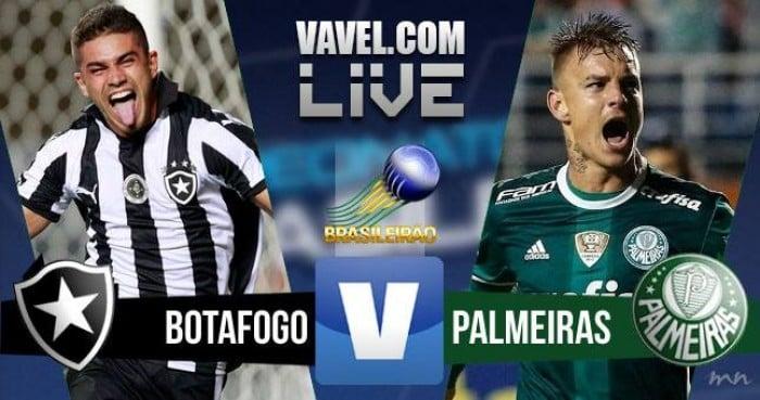 Resultado Botafogo x Palmeiras pelo Campeonato Brasileiro 2016 (3-1)