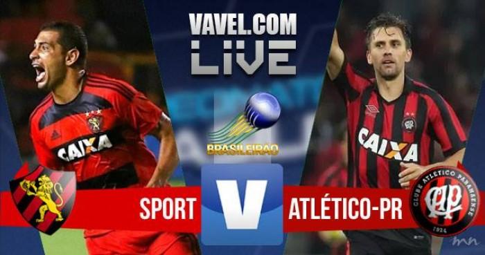 Resultado Sport x Atlético-PR na Série A do Campeonato Brasileiro (2-0)