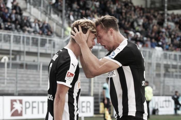 Sandhausen vence Jahn Regensburg com dois gols de Höler e segue na luta pelo acesso