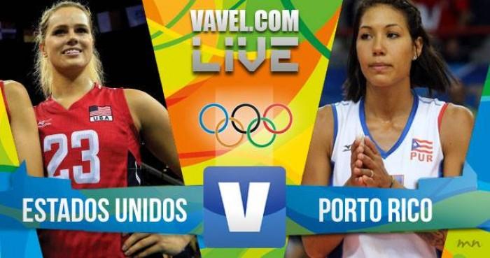 Vôlei: Estados Unidos vence Porto Rico no Rio 2016 (3-0)
