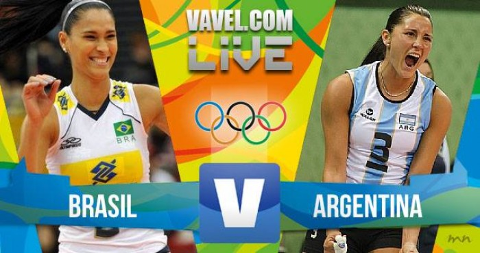 Brasil vence a Argentina no vôlei feminino dos Jogos Olímpicos (3-0)