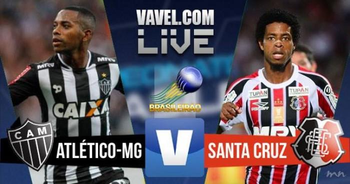 Resultado Atlético MG x Santa Cruz no jogo Campeonato Brasileiro 2016 (3-0)