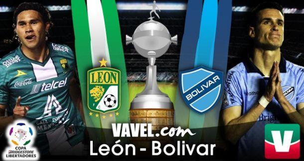 Resultado León - Bolívar en Copa Libertadores 2014 (2-2)