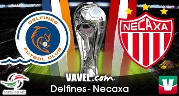 Resultado Delfines vs Necaxa en Ascenso MX 2014 (2-2)