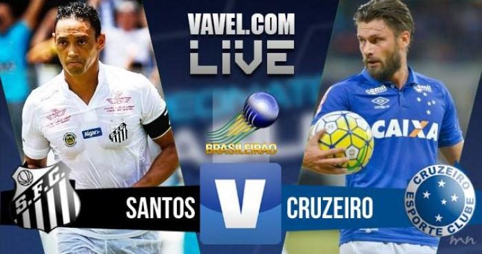Resultado Santos x Cruzeiro no Brasileirão (2-0)