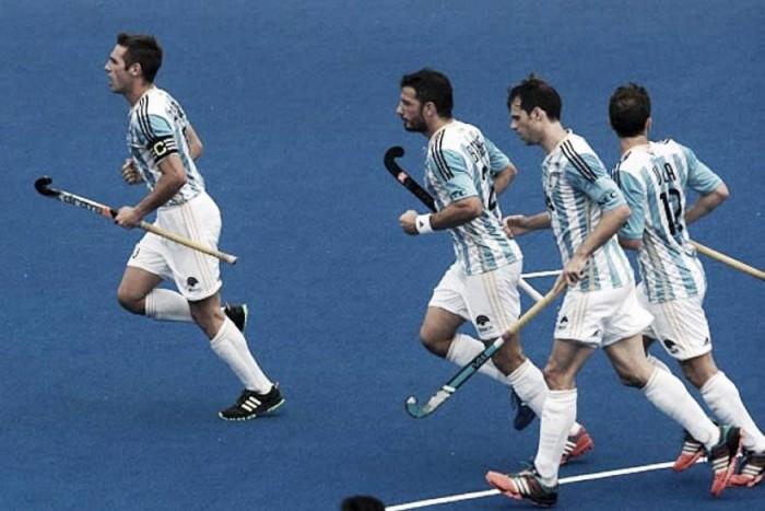 Argentina sai atrás no placar, mas busca empate com Holanda no hóquei masculino