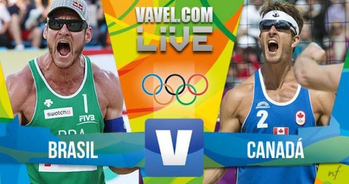 Resultado Vôlei de Praia: Brasil x Canadá no Rio 2016 (2-0)