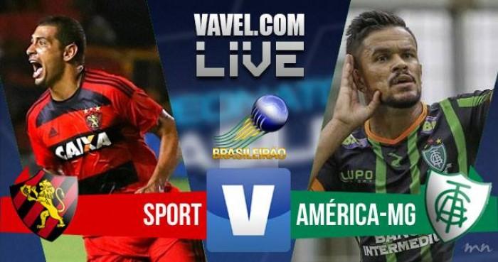 Resultado Sport x América-MG no jogo Brasileirão 2016 (1-1)