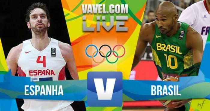 Resultado Brasil x Espanha no basquete masculino dos Jogos Olímpicos Rio 2016 (65-66)
