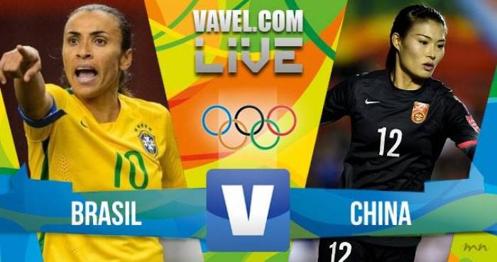 Resultado Brasil x China no futebol feminino da Rio 2016 (3-0)