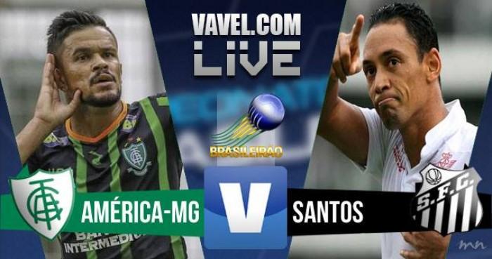 Resultado América-MG x Santos no Campeonato Brasileiro 2016 (1-0)