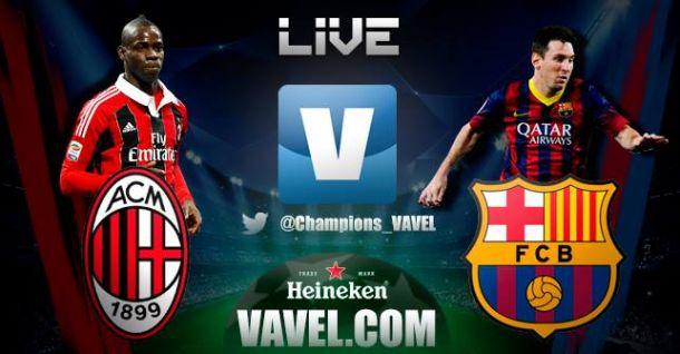 Resultado Milan - Barcelona enChampions League 2014 (1-1)