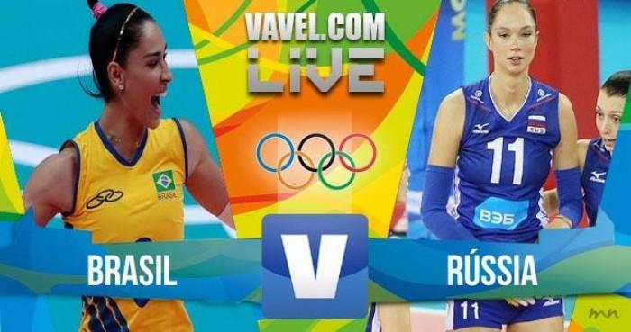Brasil vence a Rússia no vôlei feminino dos Jogos Olímpicos (3-0)