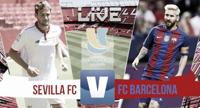Resultado Sevilla x Barcelona na Supercopa da Espanha (0-2)