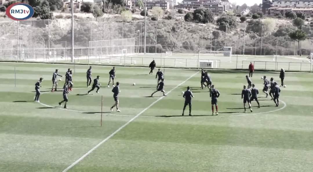 Segunda sesión de entrenamiento de cara al partido ante Osasuna