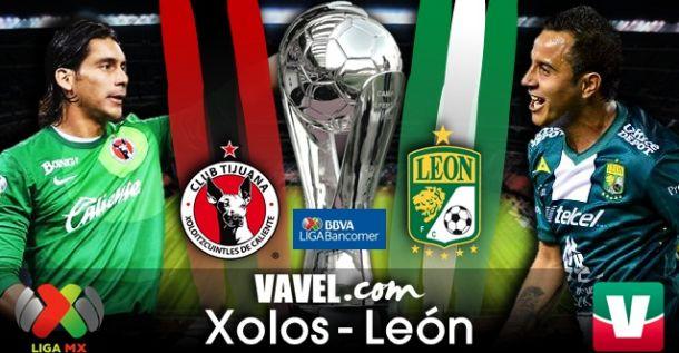 Resultado Xolos - León en Liga MX 2014 (1-2)