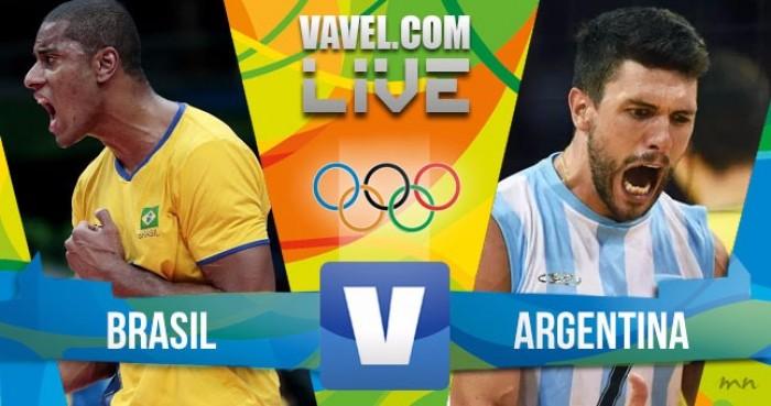 Brasil vence a Argentina no vôlei masculino (3-1)