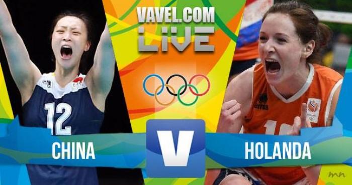 China vence a Holanda no Vôlei feminino dos jogos Olímpicos (3-1)