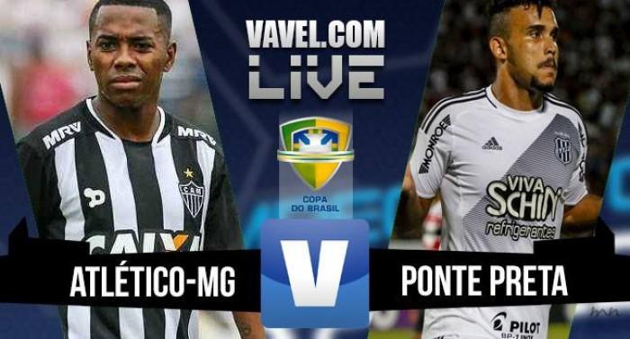 Resultado Atlético-MG x Ponte Preta na Copa do Brasil 2016 (1-1)