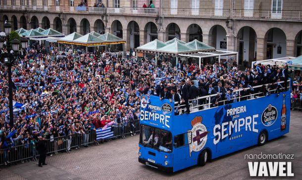 Fotos e imágenes del fin de la fiesta del ascenso: María Pita