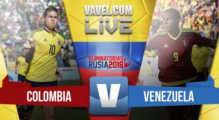 Colombia vence a Venezuela por 2-0 en las Eliminatorias al Mundial