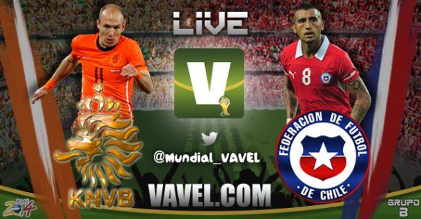 Resultado Chile - Holanda en Mundial Brasil 2014 (2-0)