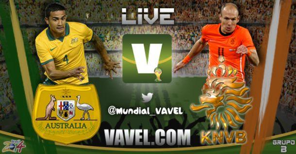 Live Australia - Olanda, Mondiali 2014 in diretta