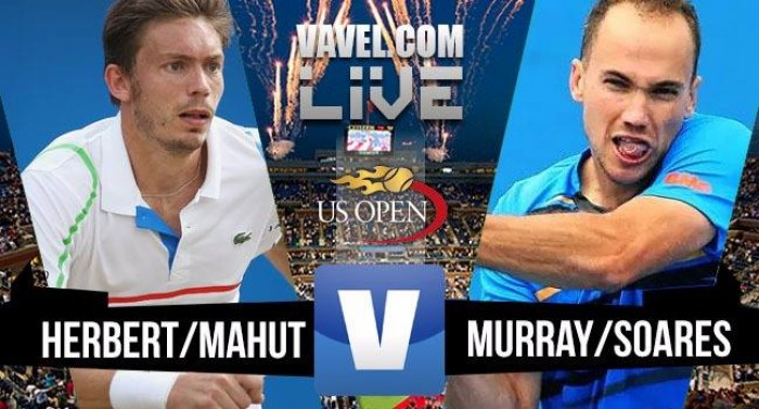 Herbert/Mahut perdem para Murray/Soares no US Open 2016 (1-2)