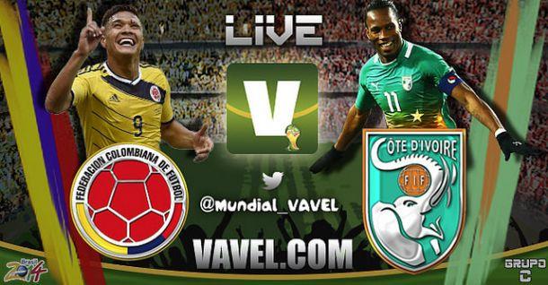Live Colombia - Costa d'Avorio, Mondiali 2014 in diretta