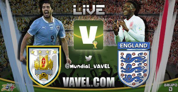Live Uruguay - Inghilterra in Mondiali 2014
