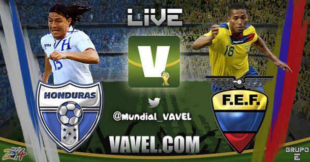 Live Honduras - Ecuador in Mondiali 2014