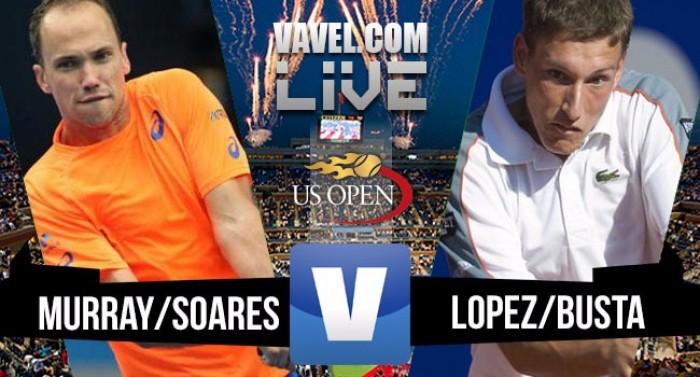 Bruno Soares/Jamie Murray vencem Carreño Busta/Garcia-Lopez na final do US Open2016 (2-0)
