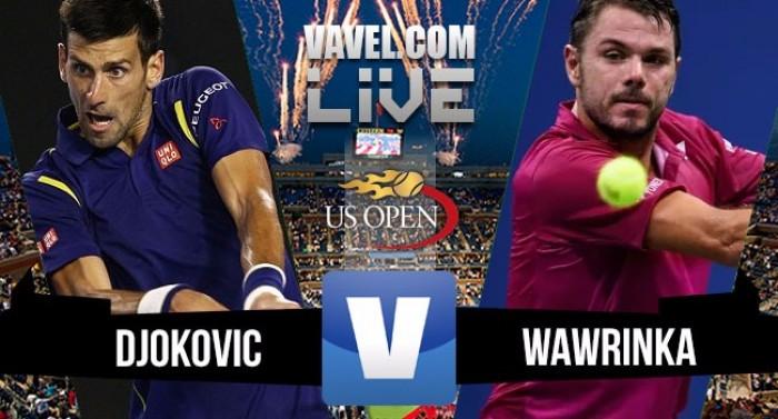Wawrinka vence Djokovic na final doUS Open2016 (1-3)