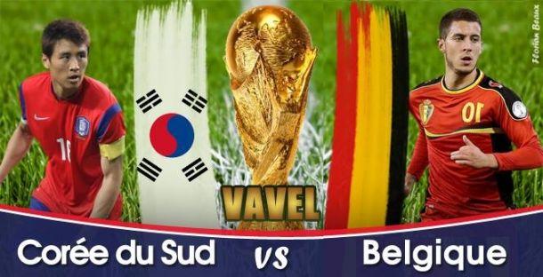 Live Corée du Sud - Belgique, direct de la Coupe du Monde 2014