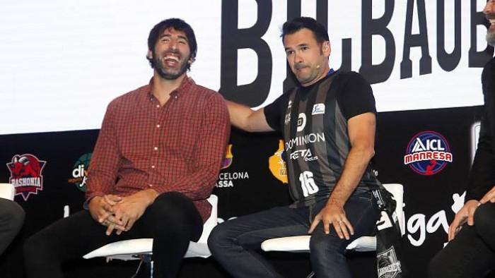 Álex Mumbrú e Iñaki López, en la presentación de la Liga Endesa