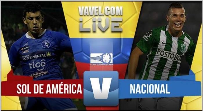 Resultado Sol de América - Nacional por la Copa Sudamericana (1-1)