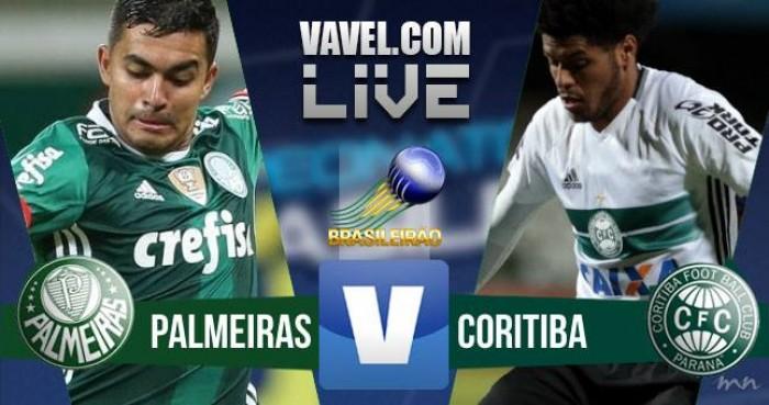 Resultado Palmeiras 2x1 Coritiba no Campeonato Brasileiro 2016