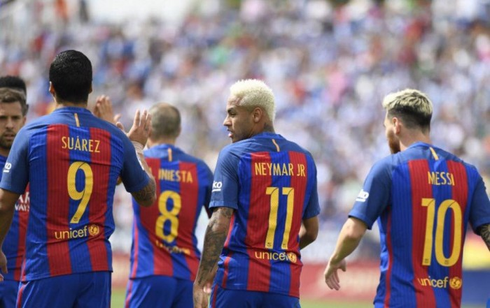 Liga, il Barcellona spazza via il Leganes: 1-5 al Municipal