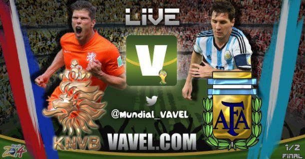 Live Olanda - Argentina, Mondiali 2014 in Diretta