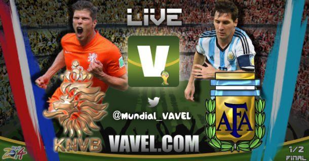 Jogo Argentina e Holanda   na Copa do Mundo 2014