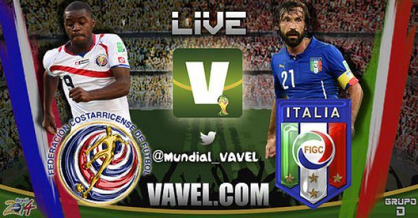 Live Italia - Costa Rica, Mondiali 2014 in diretta