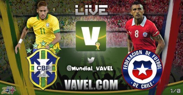 Live Brasile - Cile in Mondiali 2014